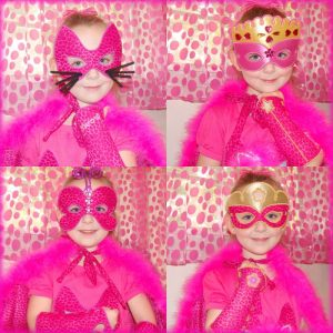 Girls Halloween Masks & Cuffs
