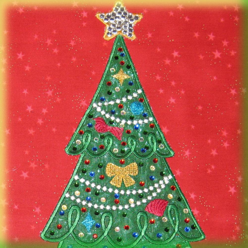 Christmas Tree Collage Digidoodlez Embroidery Machine