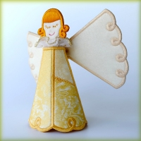 3-D Stand up Angel Embroidery Machine Designs - DigiDoodlez